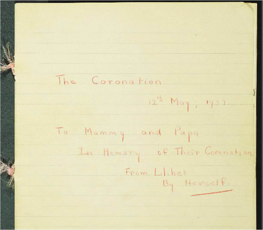 Note written to her parents by HRH The Princess Elizabeth